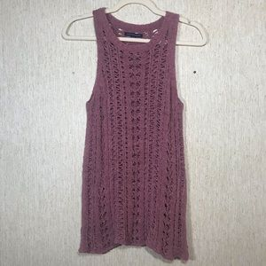 AMERICAN EAGLE OUTFITTERS Crocheted Sweater, small